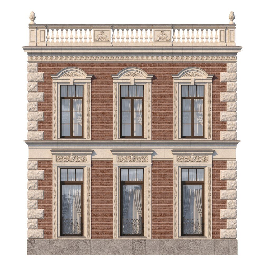 Traditional building framed with the go-to material of 19th Century: stone.