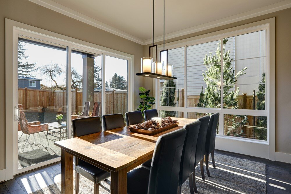 Mid Century Modern Style creates a fluid experience between outside and in.