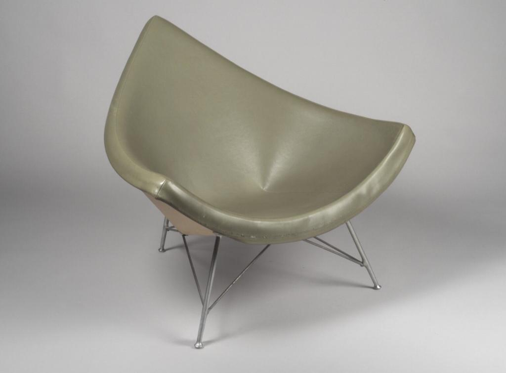George Nelson's coconut chair is named for its resemblance to a coconut shard.