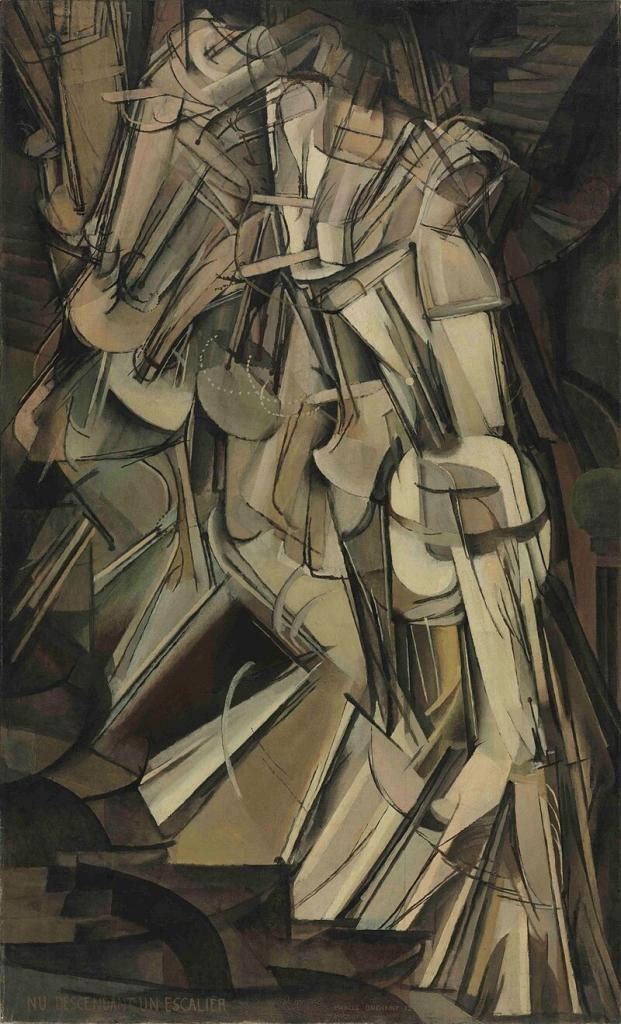 Duchamp's Nude Descending Staircase caused great controversy.