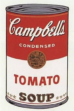 Warhol's Campbell's Soup (1968) is one of his most widely recognized.