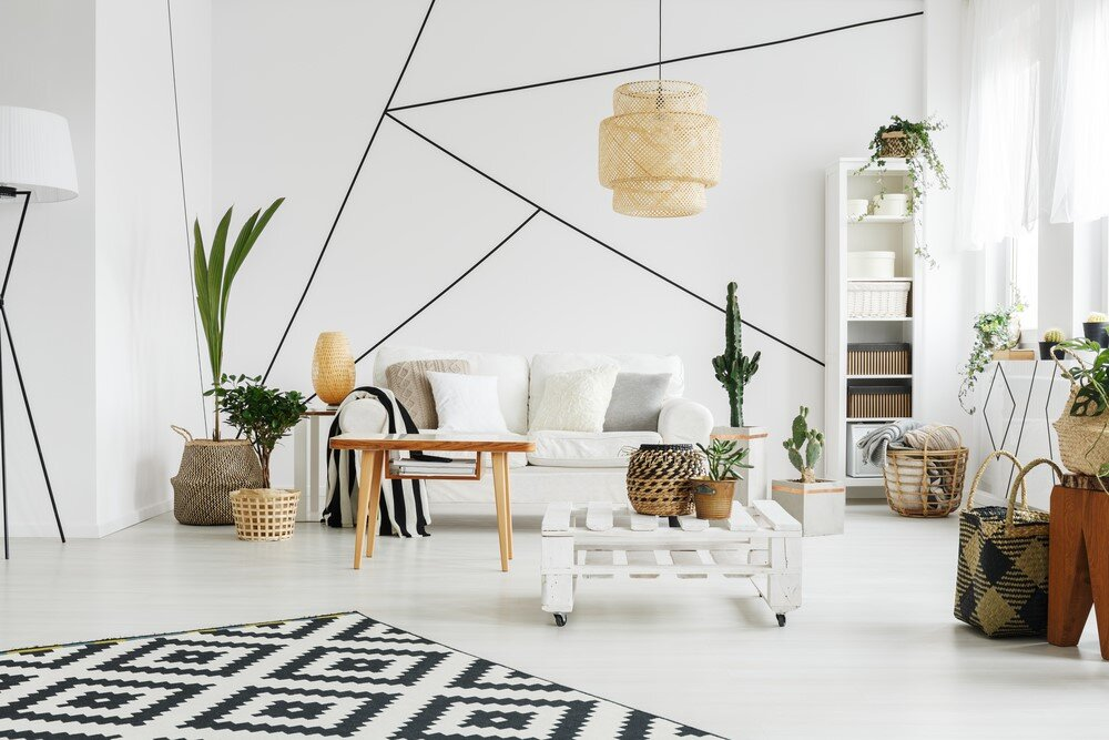 For Mid Century Modern interior design, geometric shapes and natural elements are just as important as color.