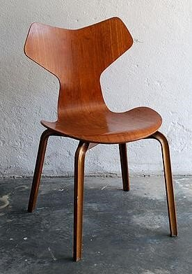Jacobsen's Ant Chairs made their way to the U.S. in the 1950s.