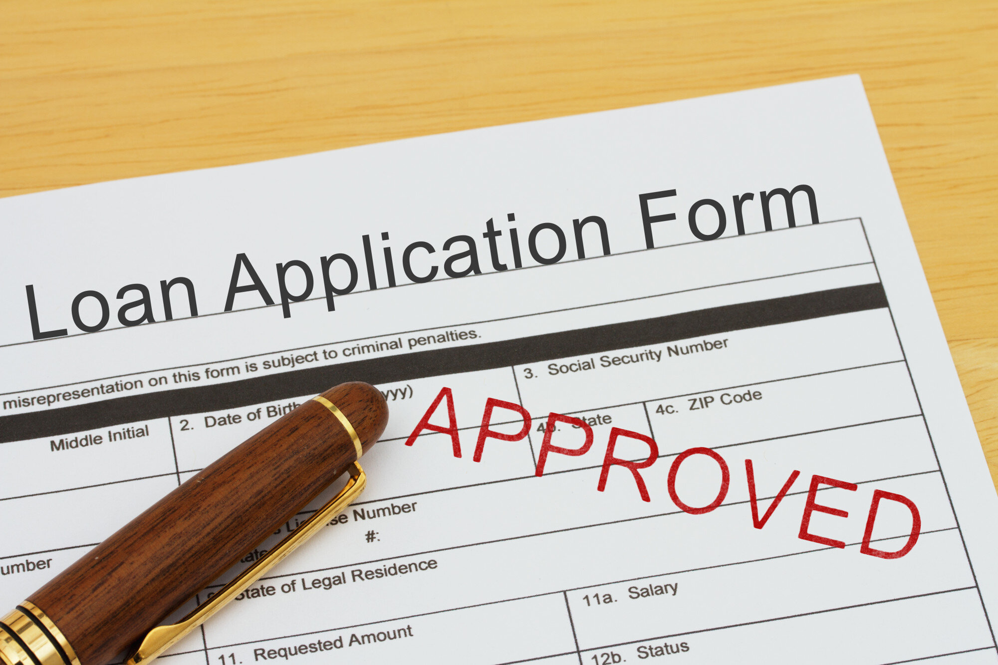 Applying for a Loan Approved