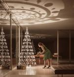 Modern Christmas Tree in the Farnsworth House